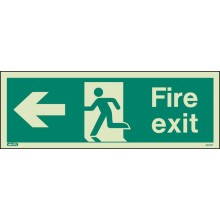 fire exit left sign