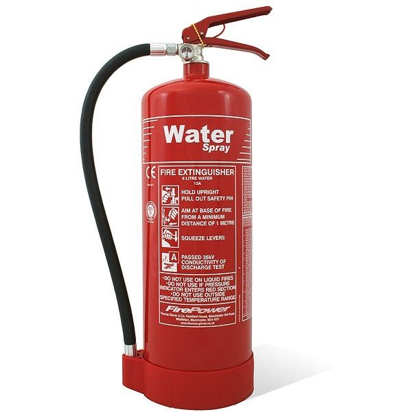 firepower 6l water spray fire extinguisher