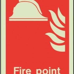 Fire Point Location Safety Sign