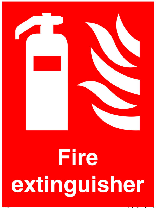 Fire Extinguisher Location Safety Sign