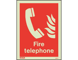 Fire Telephone Location Safety Sign