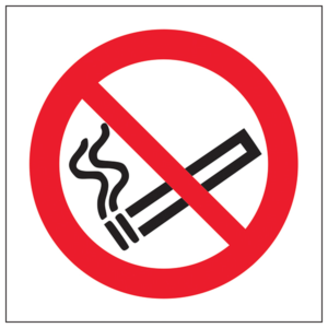 No Smoking Safety Sign