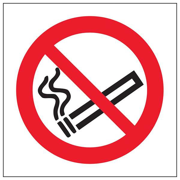 No Smoking Safety Sign