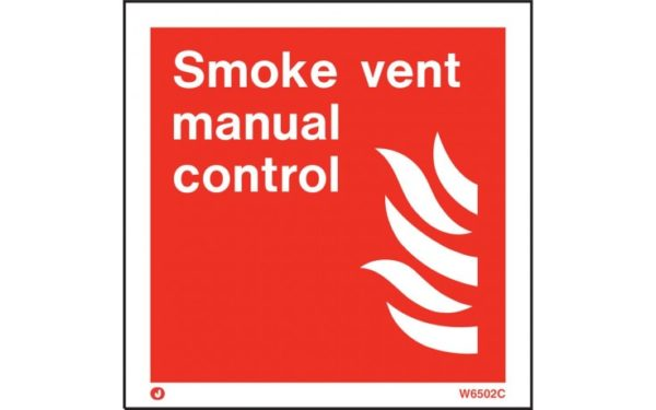 Smoke Vent Manual Control Safety Sign