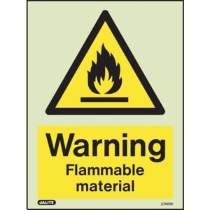 Warning Flammable Material Safety Sign