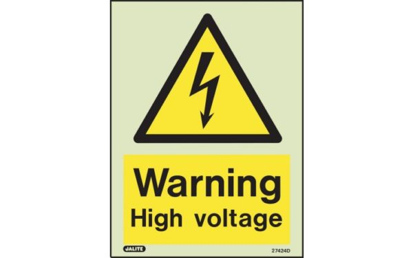 Warning High Voltage Safety Sign