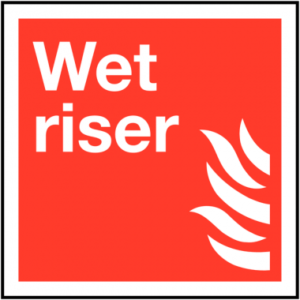 Wet Riser Safety Sign